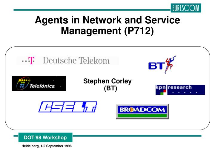agents in network and service management p712 n.