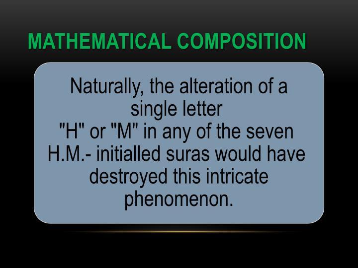 MATHEMATICAL COMPOSITION