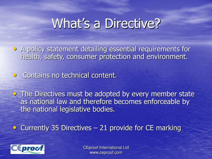 What's a Directive?