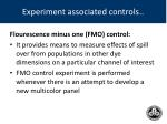 experiment associated controls1