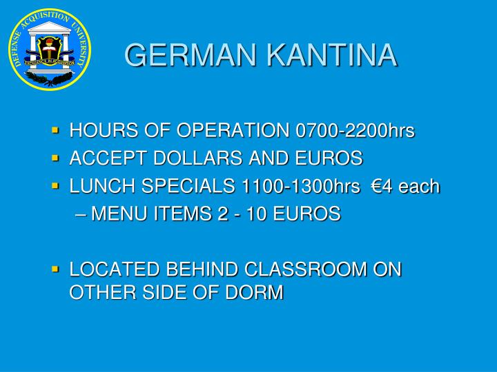 GERMAN KANTINA