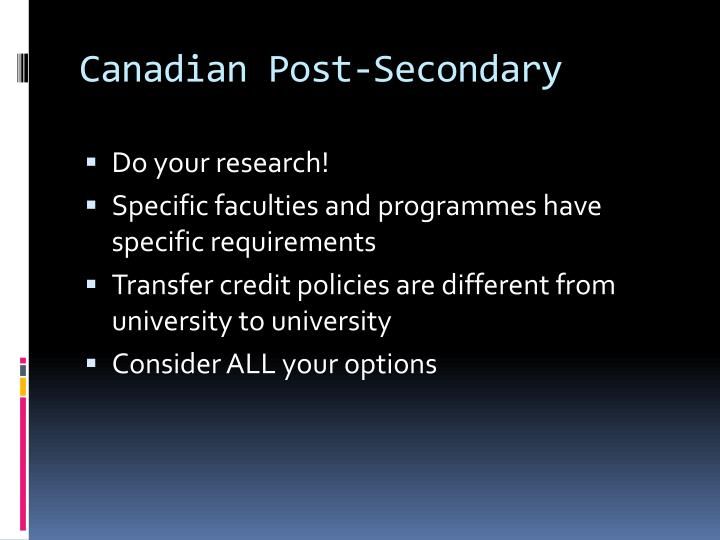 Canadian Post-Secondary