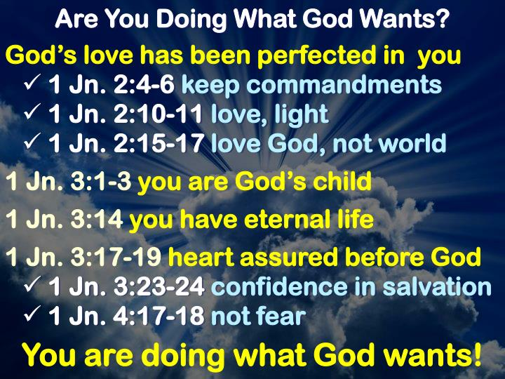 Are You Doing What God Wants?
