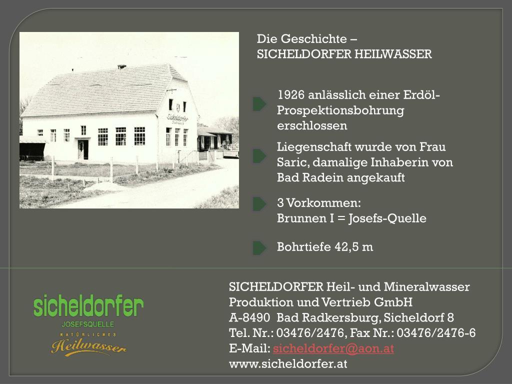 ppt sicheldorfer heil und mineralwasser produktion und vertrieb gmbh powerpoint presentation