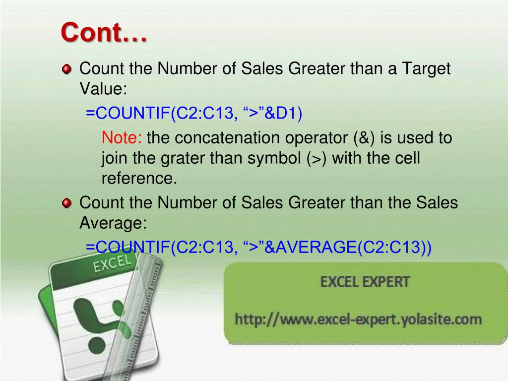 PPT   Microsoft Excel Excel Formulas and Functions PowerPoint ...