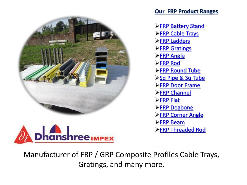 PPT - Manufacturer of FRP / GRP Composite Profiles Cable