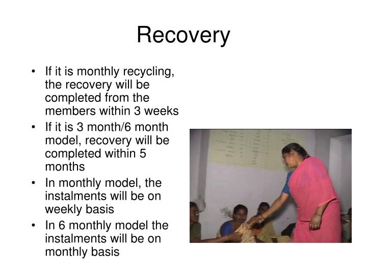 If it is monthly recycling, the recovery will be completed from the members within 3 weeks