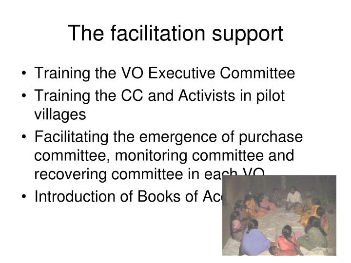 The facilitation support