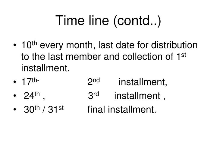 Time line (contd..)