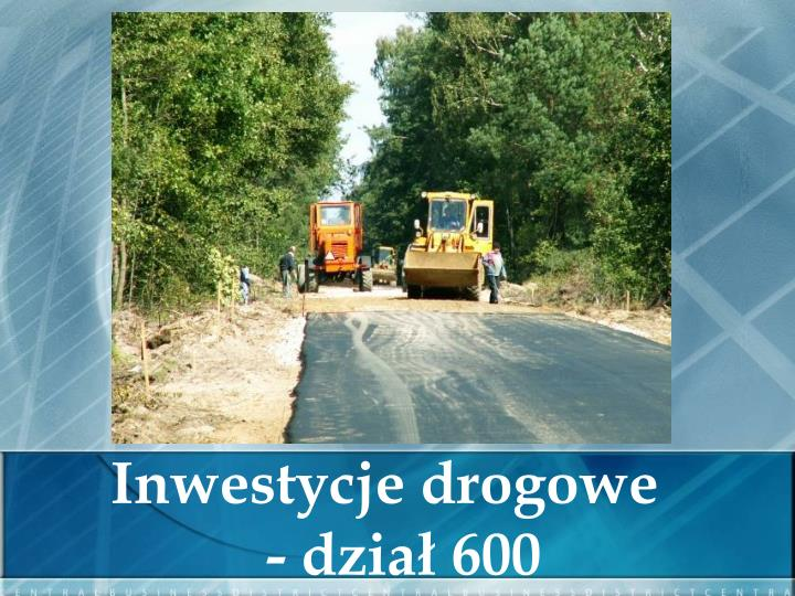 Inwestycje drogowe
