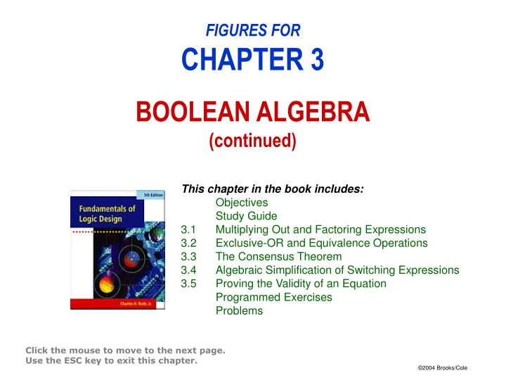Figures for chapter 3 boolean algebra continued