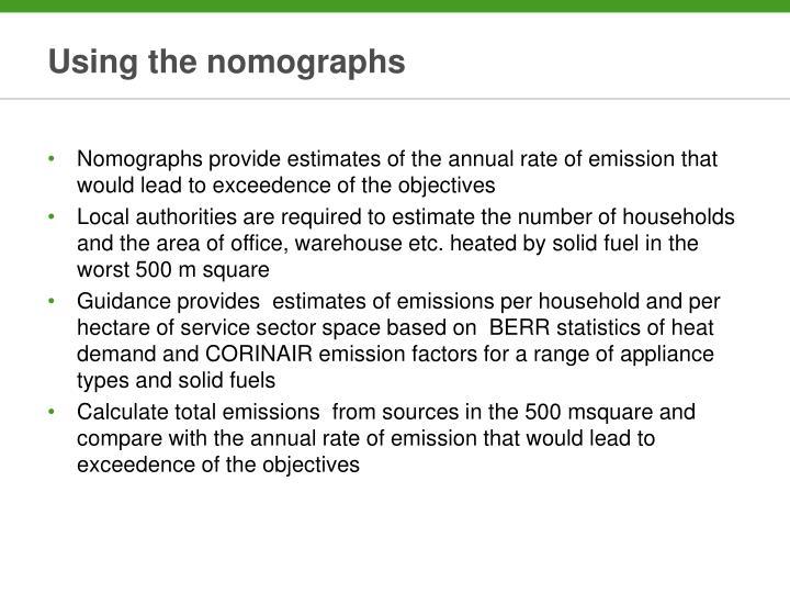 Using the nomographs