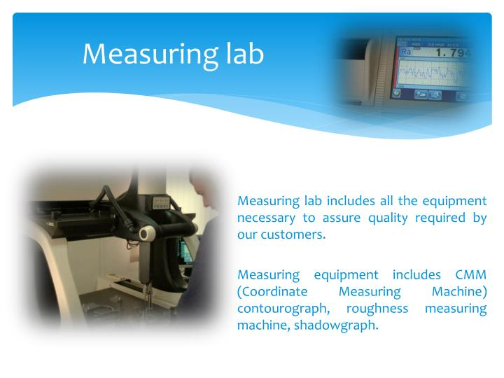Measuring lab