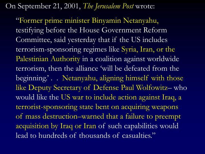 On September 21, 2001,