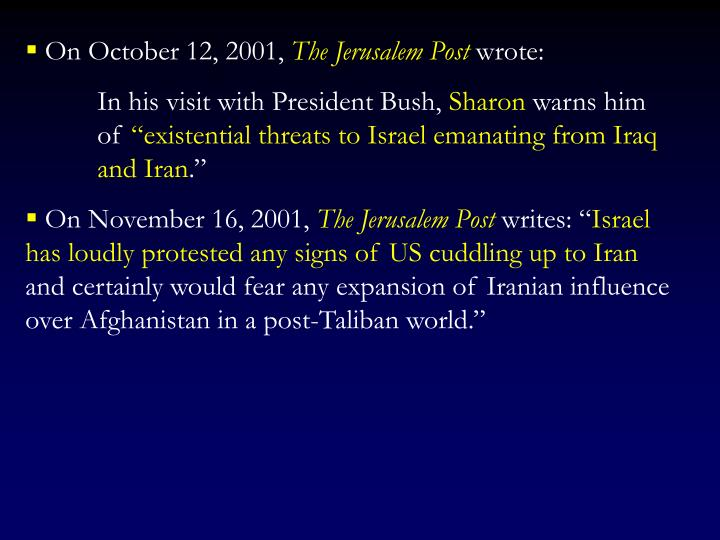 On October 12, 2001,