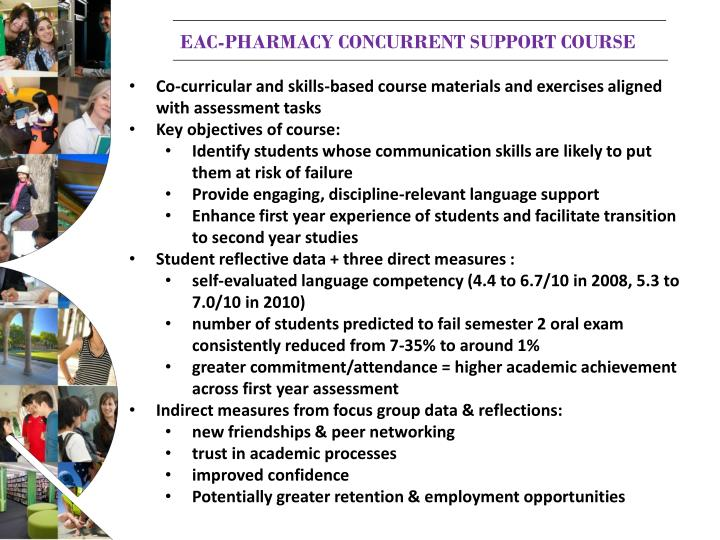 EAC-Pharmacy concurrent support course