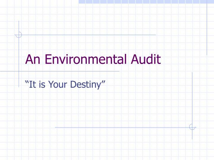 An Environmental Audit