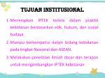 tujuan institusional