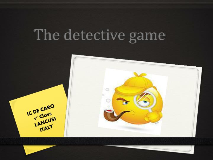 the detective game n.