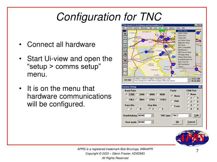 Configuration for TNC