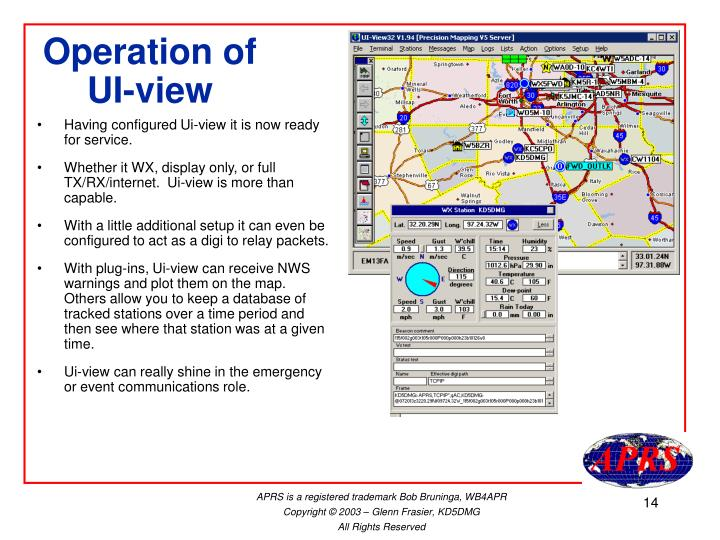 Operation of UI-view
