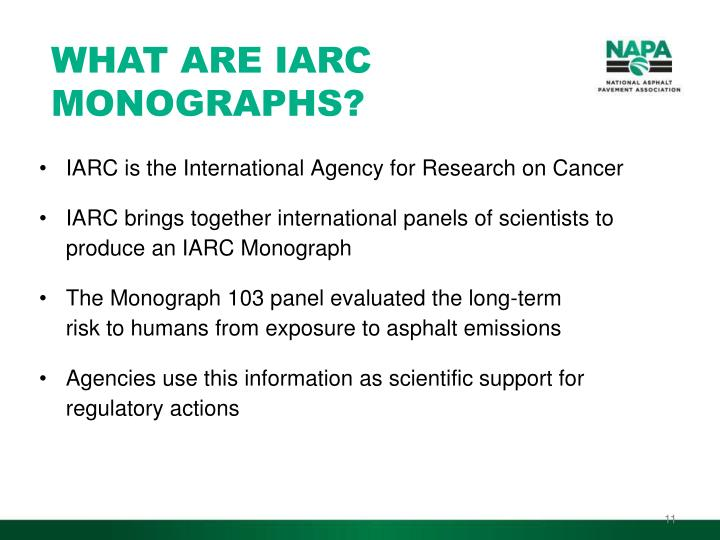 WHAT ARE IARC