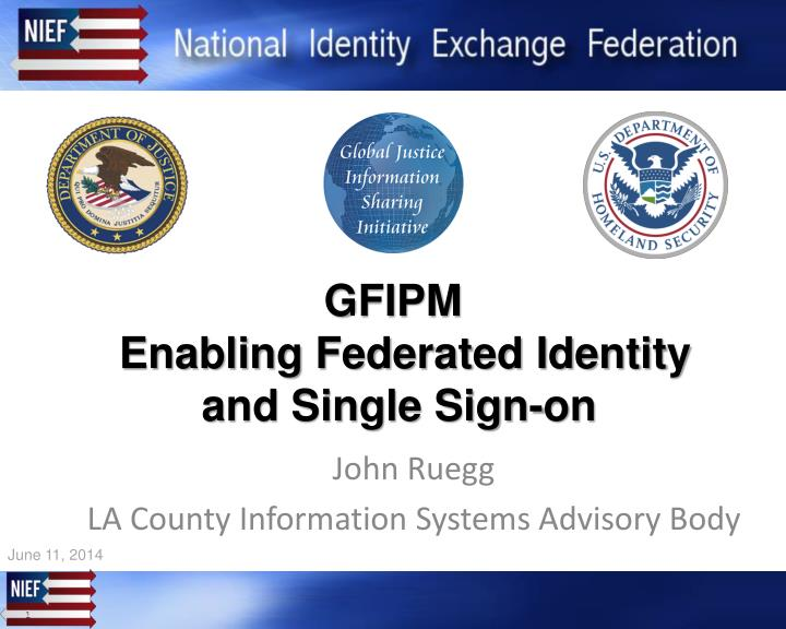 gfipm enabling federated identity and single sign on n.