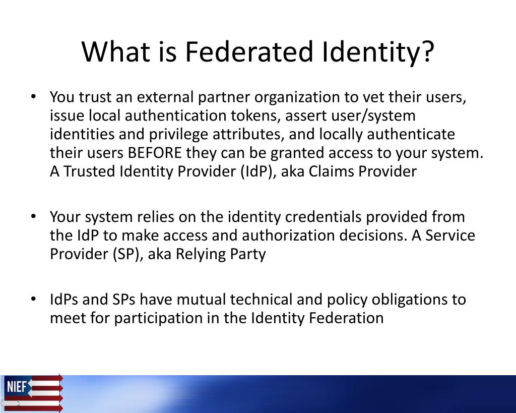 PPT - GFIPM Enabling Federated Identity and Single Sign-on