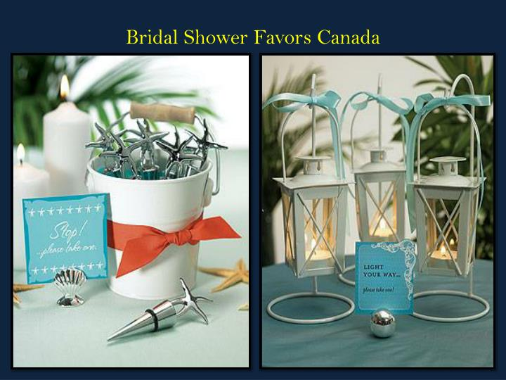 bridal shower favors canada