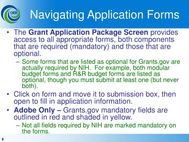 Navigating Application Forms