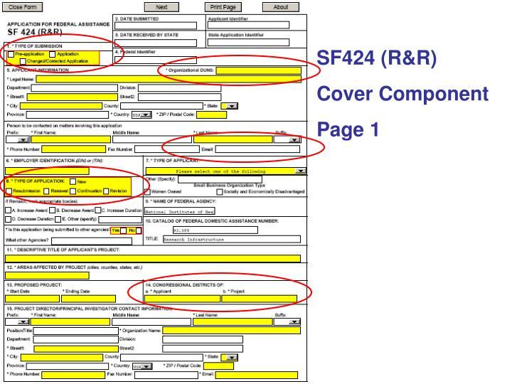 SF424 (R&R)