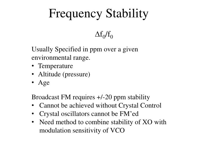 frequency stability n.