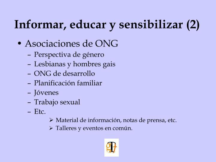 Informar, educar y sensibilizar (2)