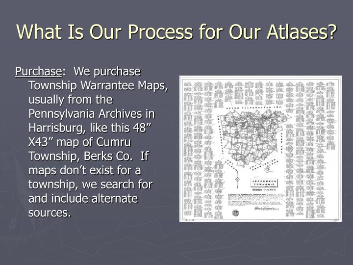 What Is Our Process for Our Atlases?