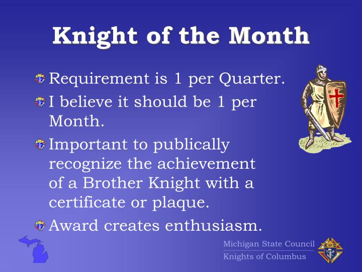 knight of the month n.