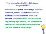 the massachusetts tiered system of support mtss