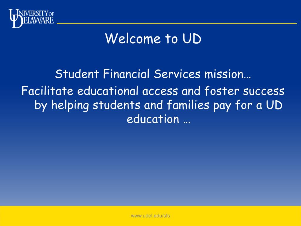 PPT - Student Financial Services PowerPoint Presentation