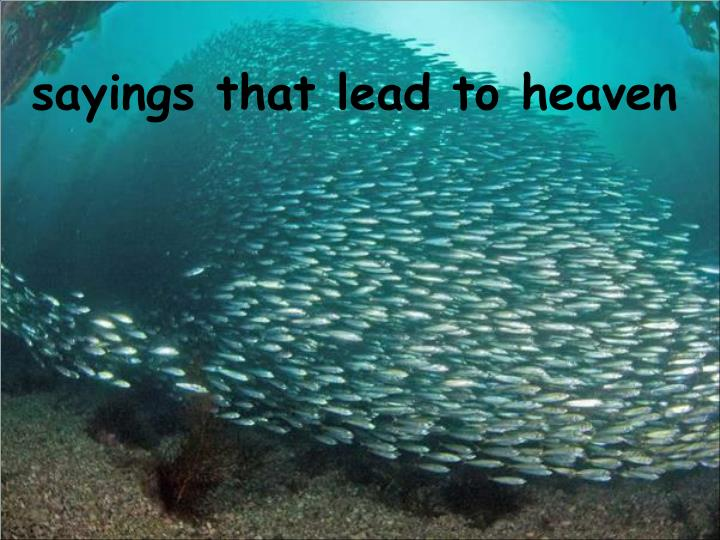 Sayings that lead to heaven