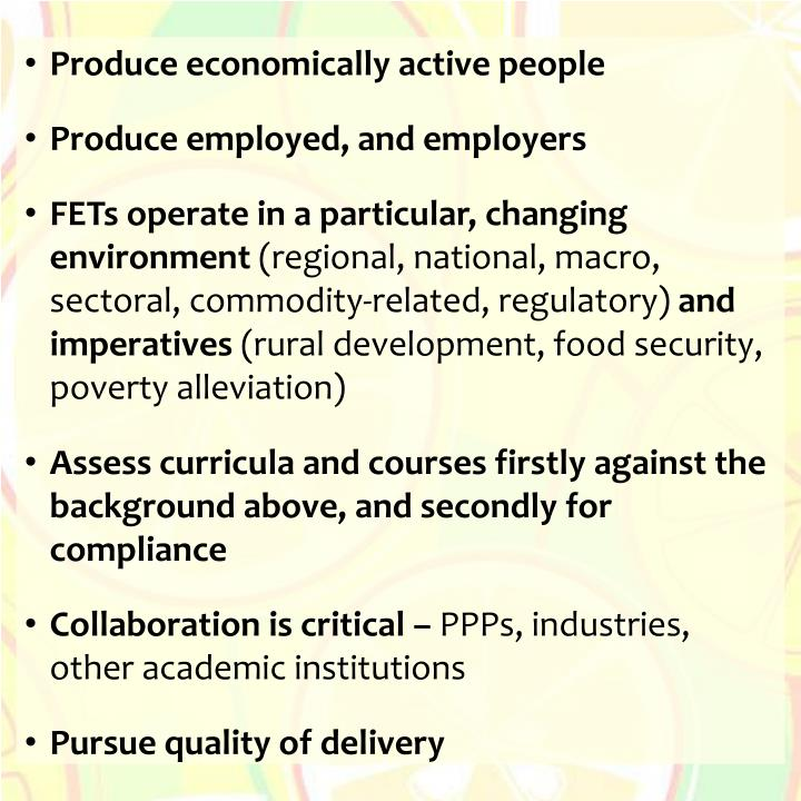 Produce economically active people
