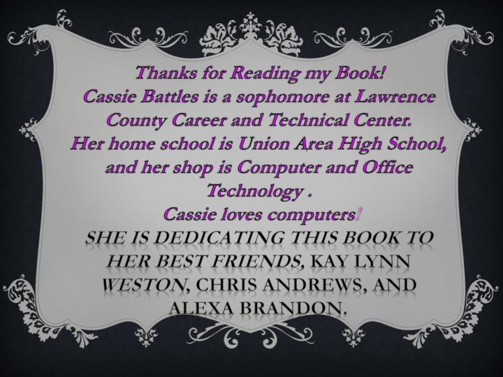 Thanks for Reading my Book!