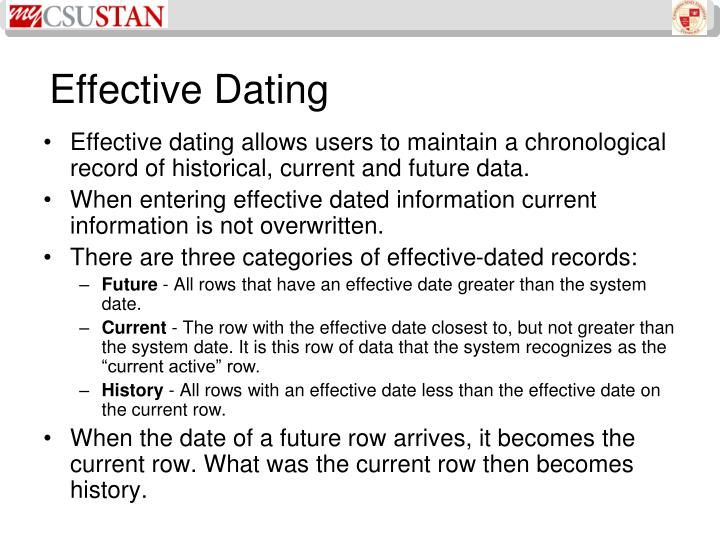 Effective Dating