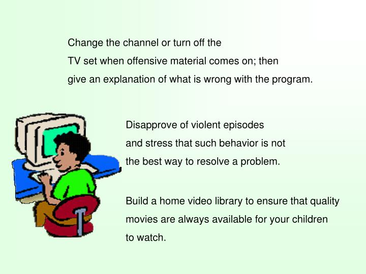 "the effects of television violence on the behavior of children The effect of media violence on children ""how can seeing so much violence on television and the media has a tremendous influence on children's behavior."