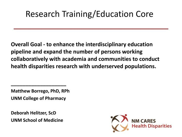 research training education core n.