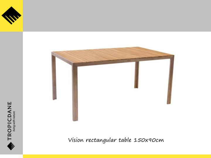 Vision rectangular table 150x90cm