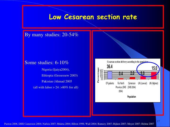 Low Cesarean section rate