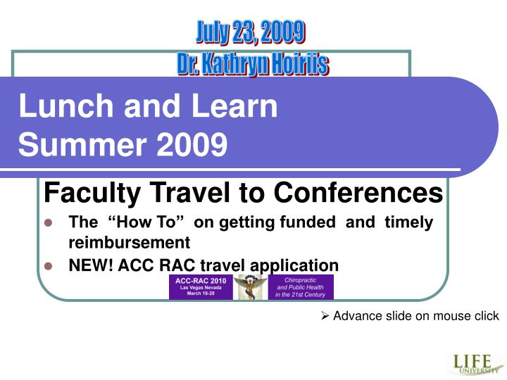 lunch and learn summer 2009 n.