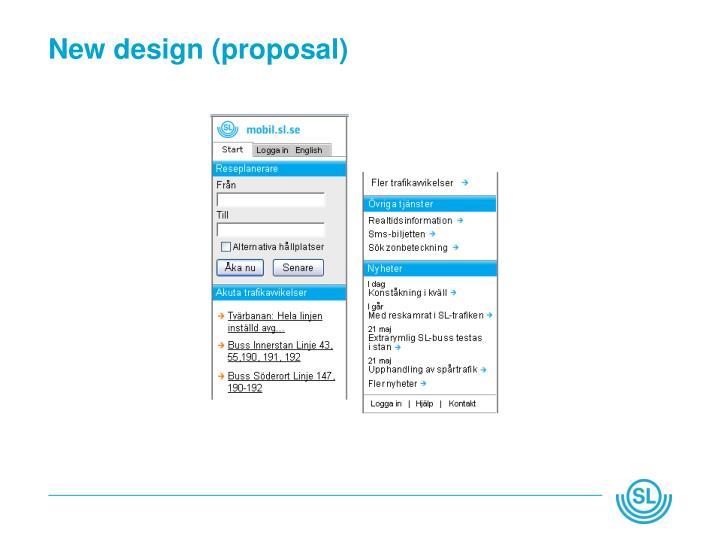 New design (proposal)