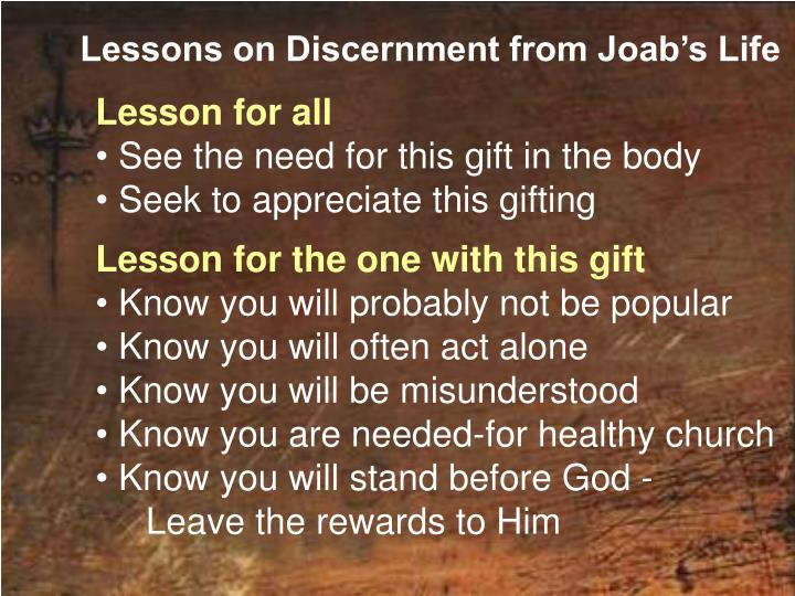 Lessons on Discernment from Joab's Life