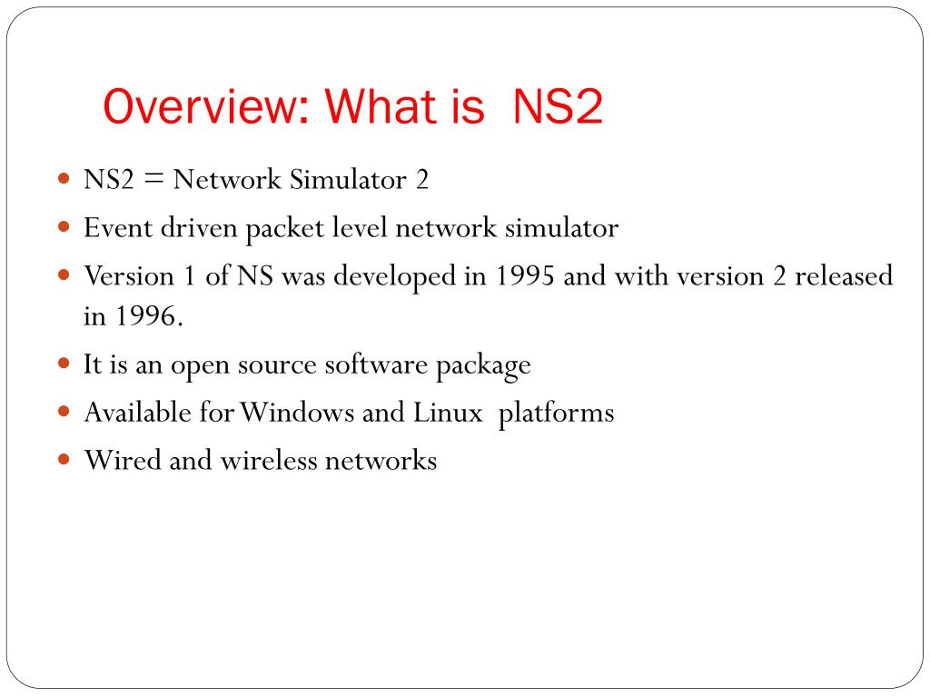 PPT - Introduction to Network Simulator NS-2 Part I PowerPoint