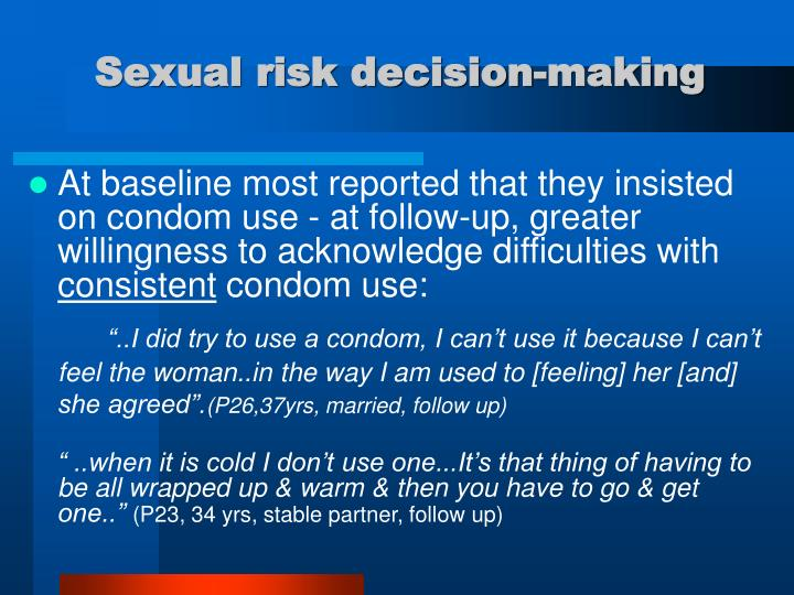 Sexual risk decision-making